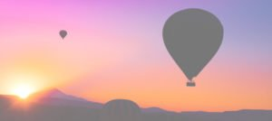 Etched In Your Heart Hot Air Balloons and sunset