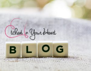 etched in your heart blog link image with scrabble letters spelling our the word blog