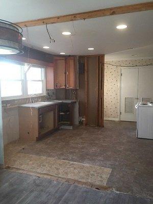 kitchen going through renevations